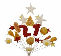 Fast food 21st birthday cake topper decoration - free postage